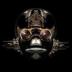 futuristic cyborg face