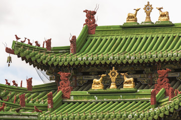 "Roof ""Holy Gate"" at the Museum of the Winter Palace Bogd Khan"