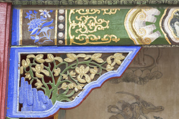 Decorative detail of the gate in the Winter Palace Museum Bogdkhaan