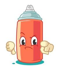 Spray Paint Mascot Cartoon Vector Illustration Thumbs Down