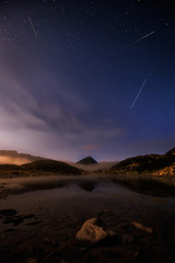 Pirin mountains / Magnificent night view of the Frog Lake in Pirin mountains, Bulgaria