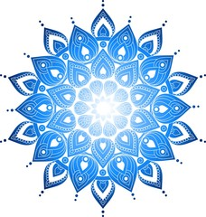 Hand drawn doodle ornate mandala illustration