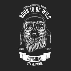 Biker quote with dog for garage, service, t-shirt, spare parts Vector image