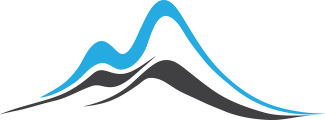 Mountains with Steep Peaks Logo.