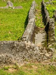 old dacian aqueduct near sarmisegetuza regia romania