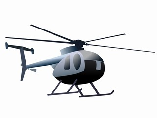 silhouette of helicopter. vector drawing