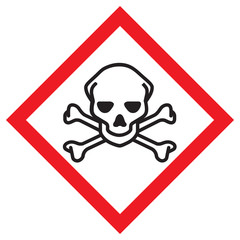 toxic sign and skulls - photo #7