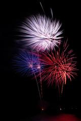 colorfull fireworks in dark