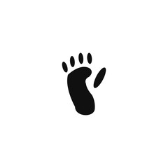 Animal footprint - monkey
