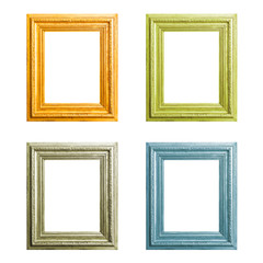 Old wooden frames set