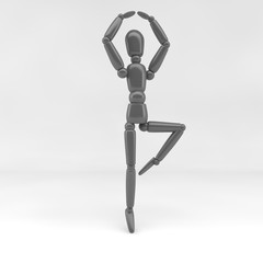 3d illustration / ballet