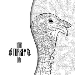 Graphic design with turkey