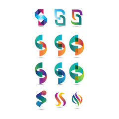 Colorful Letter S Logo