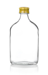 Empty bottle isolated on white