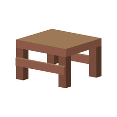 table wooden home modern decoration furniture. vector illustration