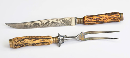 Antique Carving Set.