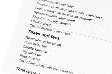 Residential Electricity Bill Taxes and Fees