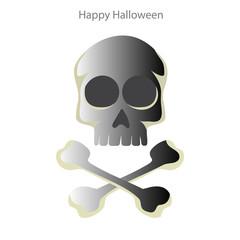 Halloween skull on a white background