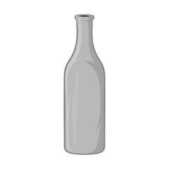 Bottle of beer icon in black monochrome style isolated on white background. Dishes and drink symbol vector illustration