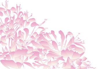 vector background of little pink flowers decorative pattern