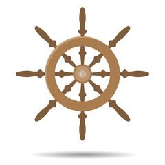 Steering vessel wooden
