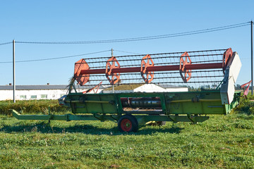 harvester gross for tractor. Attachments agriculture.