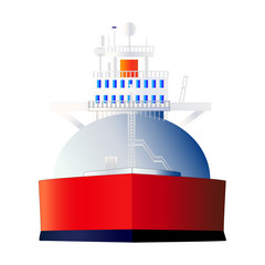 LNG, Gas tanker, vector, isolated