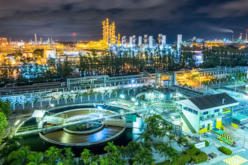 Petrochemical and wastewater plant Wall mural