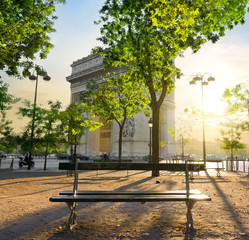 Wall Mural - Arc de Triomphe in Paris