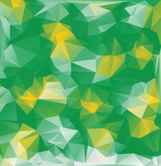 Bright yellow-green background. Vector. Polygonal abstract composition.