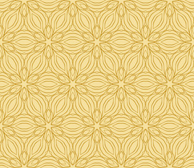 Abstract Vector seamless pattern with abstract floral and leave style.