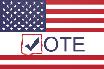US Election: Vote With Stars And Stripes US Flag