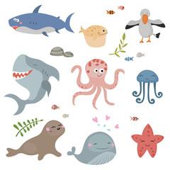 Cute sea creatures.