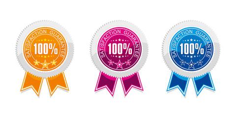 gwarancja jakości, naklejka, 100%
