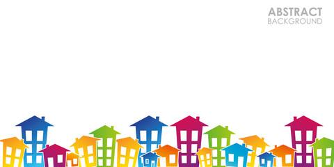 Fototapeta domy, mieszkania, nieruchomości, wieżowce,