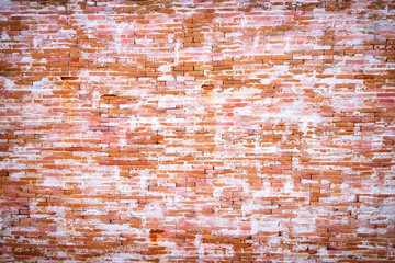 Red brick wall textured background.