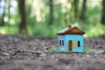 toy handmade ceramic house outdoor