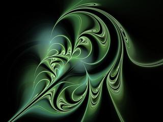 Abstract green flower fractal