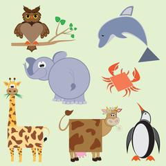 Geometric flat animals