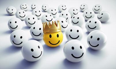 Gelber Smiley mit Krone 3
