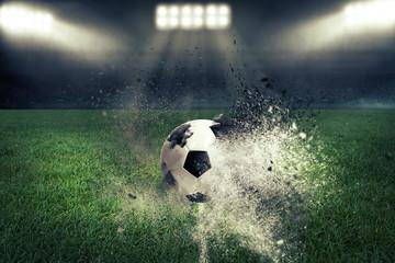 Fussball explodiert im Fussballstadion