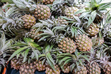 pineapple in the supermarket