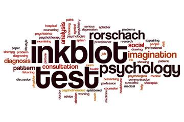 Inkblot test word cloud