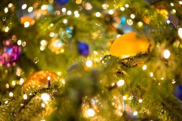 Weihnachtsbaum beleuchtet
