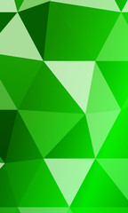 green background with elements of a polygonal pattern. vector illustration