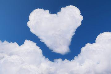 heart cloud blue sky