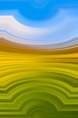 yellow, green and blue stripes motion blur colorful abstract background, portrait orientation