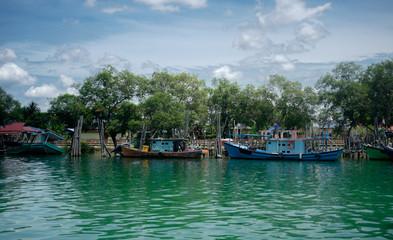 Boats in Jetty. Mersing Malaysia