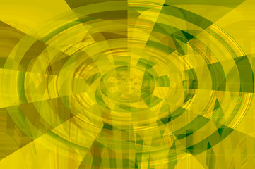 Abstract modern graphic design round pattern background in green