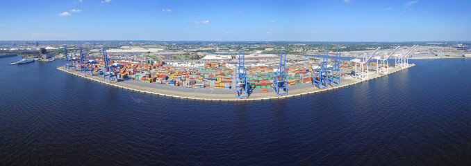 Aerial panoramic image of Port Baltimore